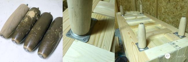 adding feet to coffee table