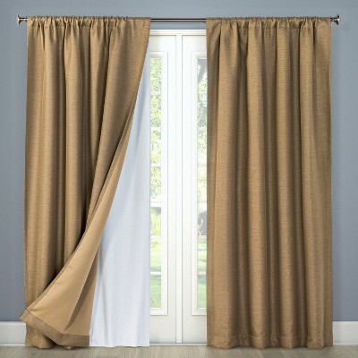 Curtains That Go With Red Walls Hang From The Ceiling On Hooks Reduce Noise Roll Up