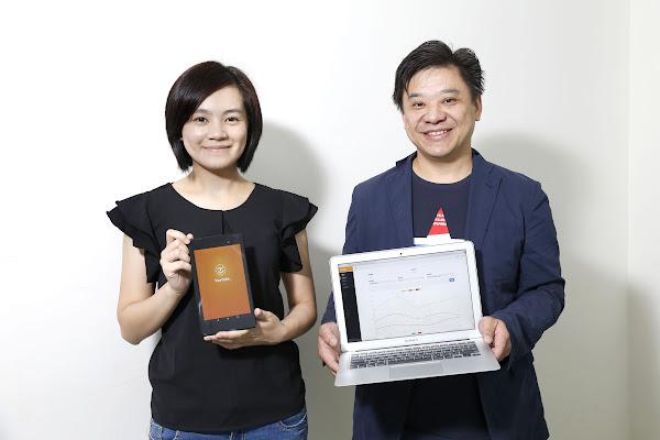 (圖說:由左至右為執行長謝侑霖(男)、產品長張如芬(女),攝影:侯俊偉)