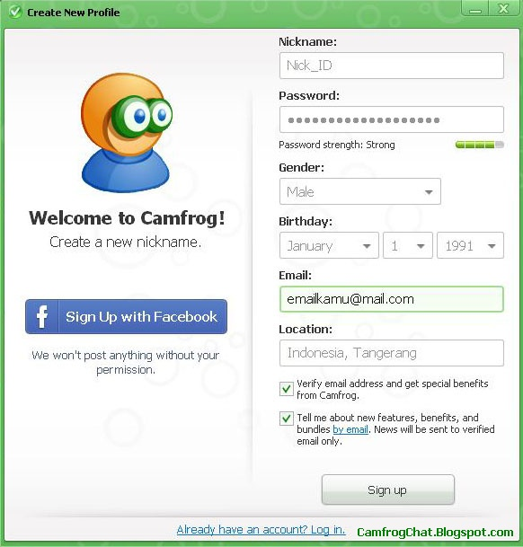 Register ID Camfrog 6.4