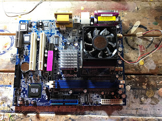 Pictured - A defunct motherboard