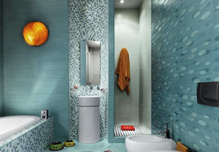 The latest design is a Modern bathroom with a walk-in Shower