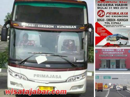 Primajasa jurusan Bekasi - Cirebon - Kuningan
