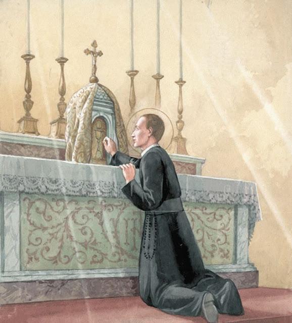 Thánh Gerardo Majella yêu mến Chúa Giêsu ngự trong Bí tích Thánh Thể