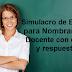Simulacro de Examen para Nombramiento Docente con claves y respuestas