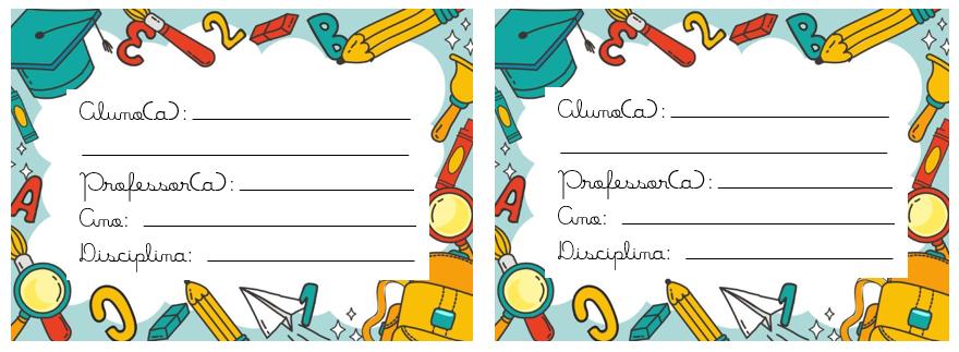 Etiquetas Para Cadernos Para Imprimir Hora De Colorir
