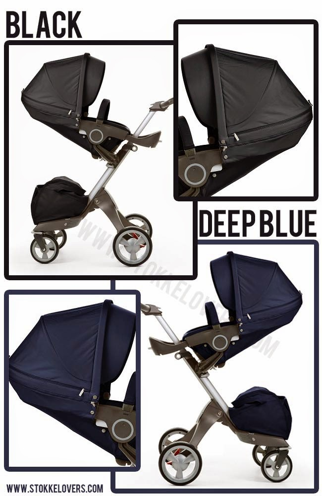 Black Stokke Xplory Deep Blue Stokke Xplory