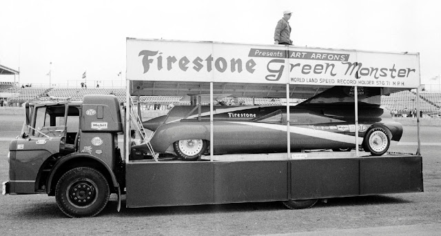 Used Tires Akron Ohio >> Just A Car Guy: Firestone presents the Green Monster, at the Daytona 500, 1966