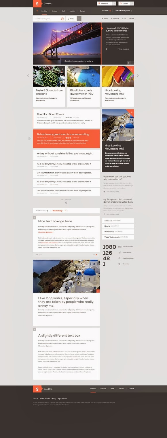 Good Inc. – Free website PSD