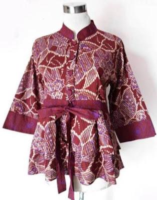 Model baju batik atasan wanita gemuk