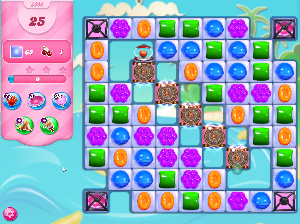 Candy Crush Saga level 3466