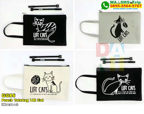 Pouch Totebag Lift Cat