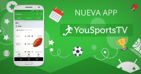 YouSports TV Futbol en vivo gratis por internet