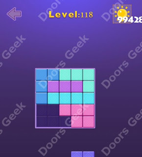 Cheats, Solutions, Walkthrough for Move Blocks Easy Level 118