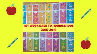 1st Week Back to Homeschool (2015-2016)