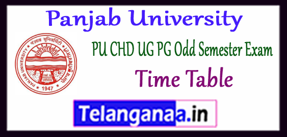PUCHD Panjab University UG PG 1st 3rd 5th Semester Exam Time Table 2017-18 Result