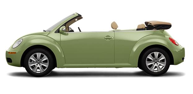 Green Volkswagen Beetle Convertible