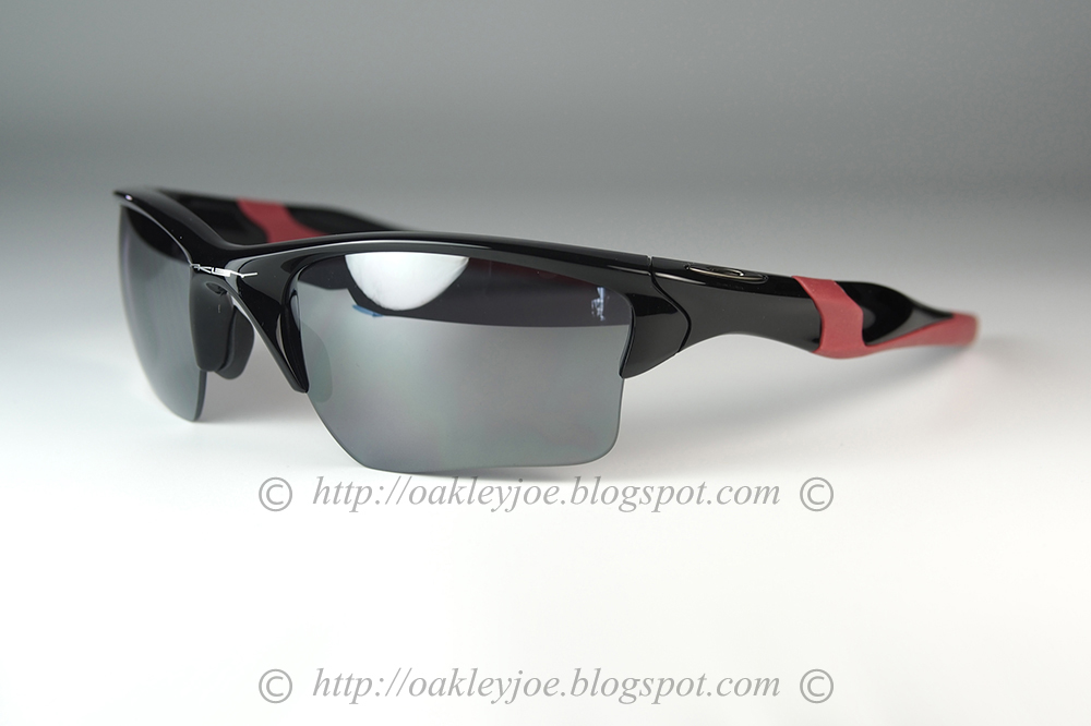5ff433a5150ff Custom Half Jacket 2. Asian Fit polished black + light grey polarized  230  lens pre coated with Oakley hydrophobic nano solution