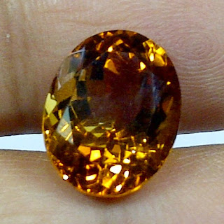 Batu Permata Golden Citrine Quartz