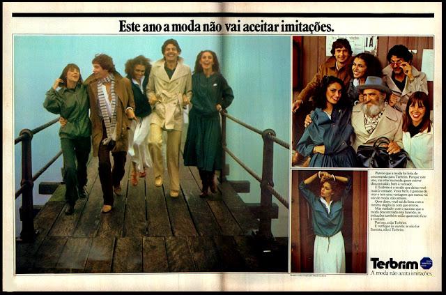 propaganda Terbrim - 1978; moda anos 70; propaganda anos 70; história da década de 70; reclames anos 70; brazil in the 70s; Oswaldo Hernandez