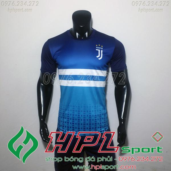 Áo đá bóng câu lạc bộ Juvenus Xanh Training 2019