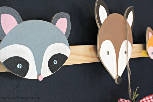 animal wall hooks detail