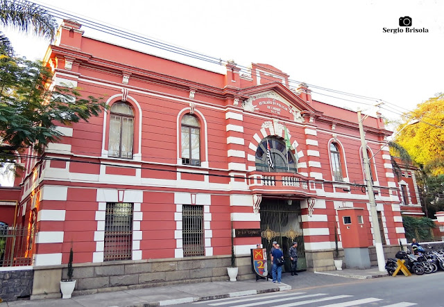 Vista da fachada do 2° Batalhão de Polícia de Choque - Batalhão Anchieta - Luz - São Paulo