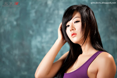 13 Hwang Mi Hee-Purple Sport Bra-very cute asian girl-girlcute4u.blogspot.com