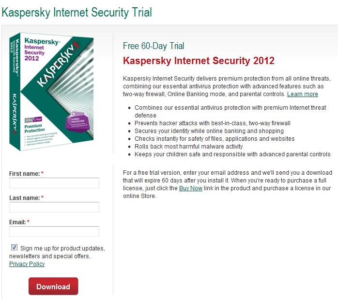 Top Five Kaspersky Internet Security 2011 Activation Code