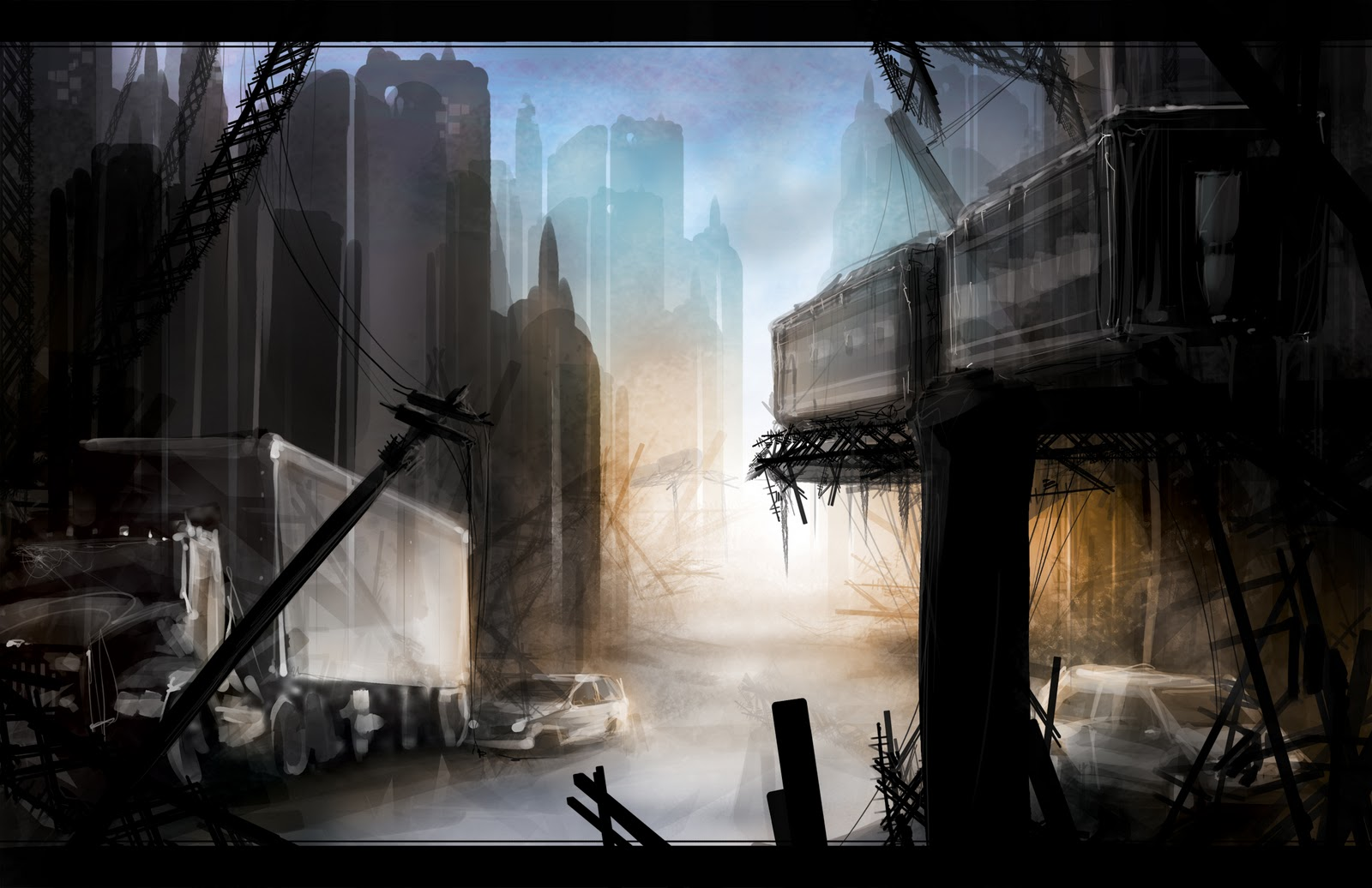 speedpaint industrial city by - photo #11