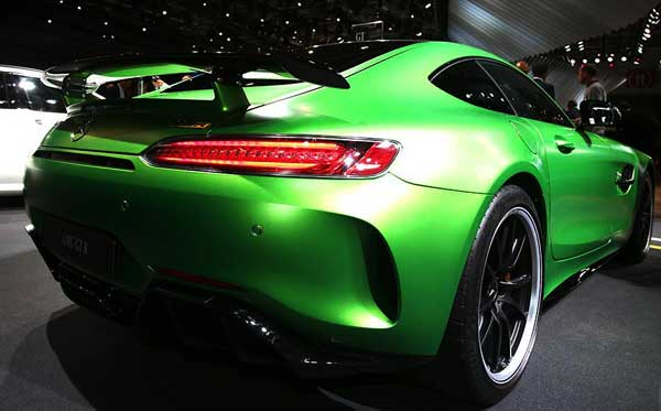 2016 Mercedes-AMG GT C Roadster twin-turbo V-8 showcased at Paris Auto Show with 557 PS