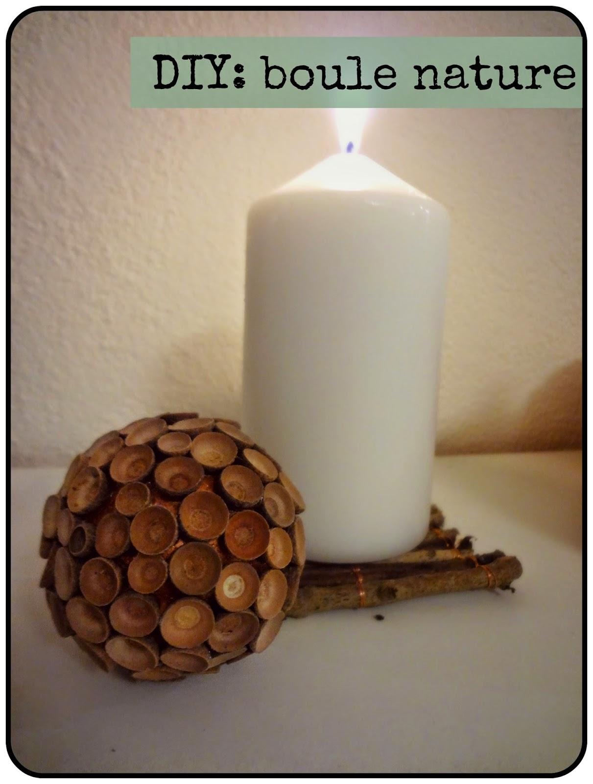 diy une boule nature avec des cupules de glands enedwaith 39 s little secrets. Black Bedroom Furniture Sets. Home Design Ideas