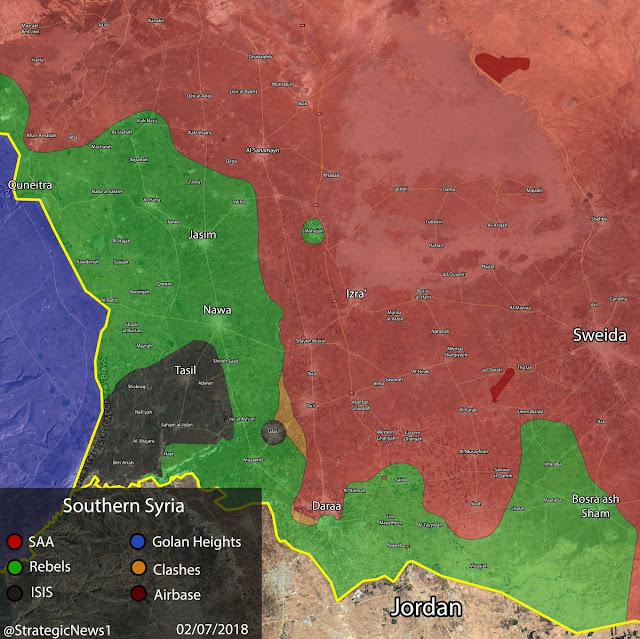 Mientras tanto, en el extremo sur de Siria...