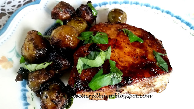 Eclectic Red Barn: Balsamic Chicken with Brussels Sprouts