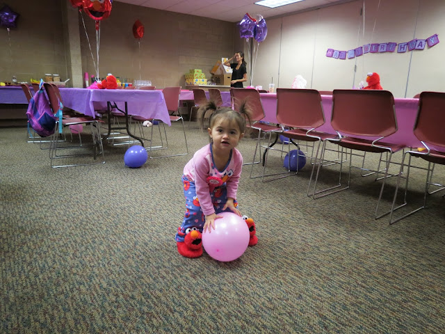 We Held A Pajama Party Breakfast On Saturday Morning At The Shoreview Community Center And Had Purple Pink Elmo Theme To Match Noelles Jammies