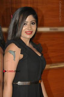 Telugu Actress Model Madhulagna Das Latest Spicy Stills in Black Short Dress  0019.JPG