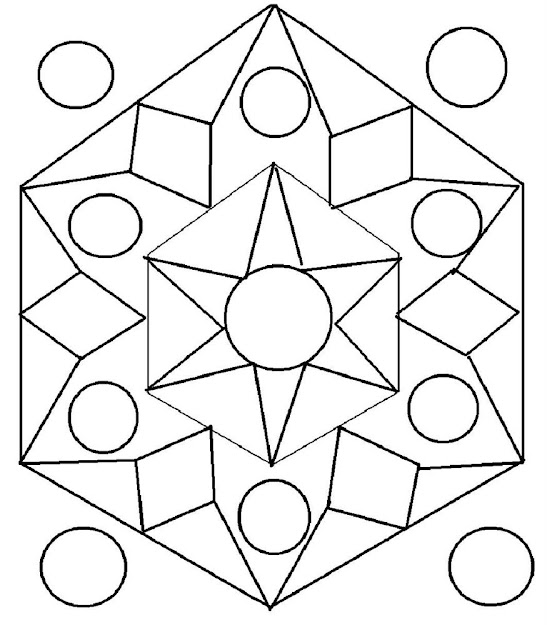 Rangoli Coloring Pages Free Printable