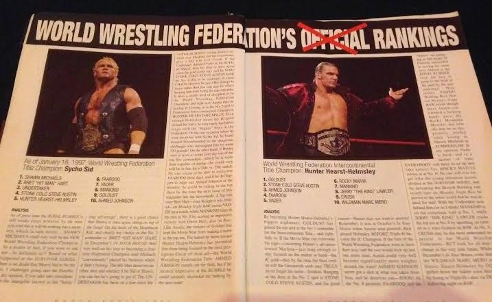 WWE - WWF RAW MAGAZINE 1997: WWF Rankings