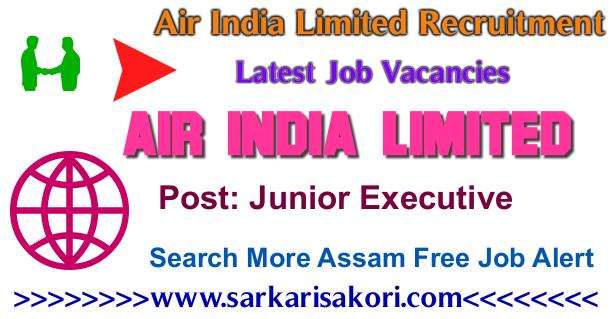 Air India Limited Recruitment  2017 Junior Executive