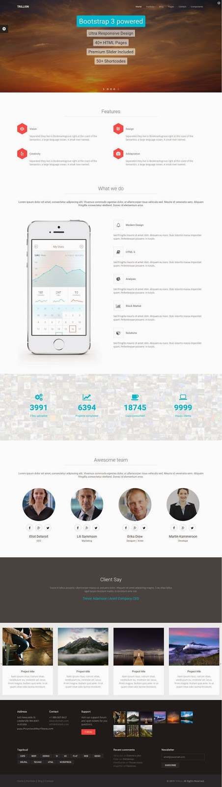 Trillion HTML5 Template