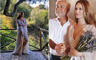 Το ονειρικό νυφικό που φόρεσε η Ανίτα Μπραντ στον γάμο της με τον Χάρη Χριστόπουλο