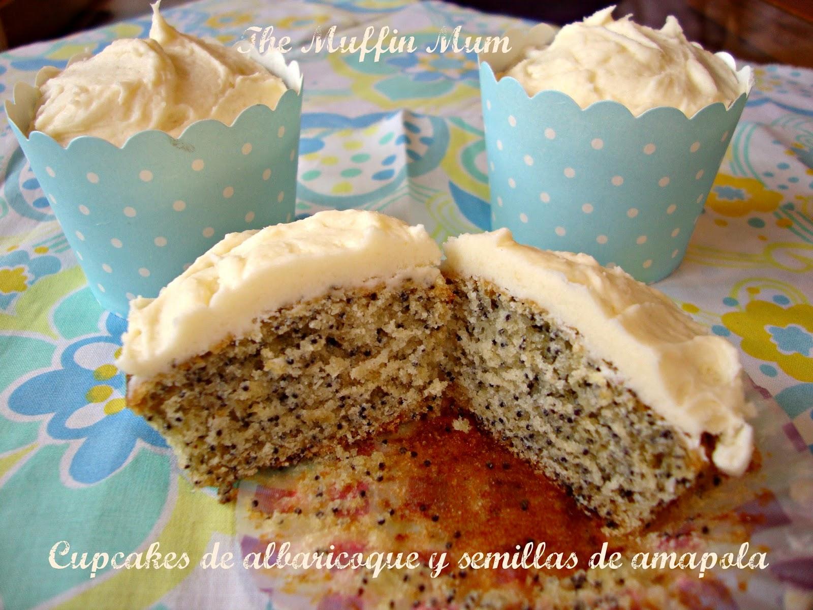 Cupcakes de albaricoque y semillas de amapola