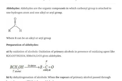 CBSE Class 12 Chemistry Notes : Aldehydes, Ketones and Carboxylic Acids