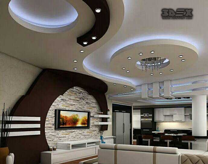 latest pop designs for living room ceiling grey carpet design hall 50 false modern 2019