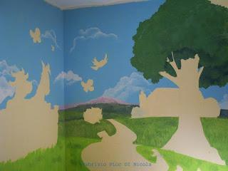 Pluccomix murales cameretta bambini for Pitture per camerette ragazzi