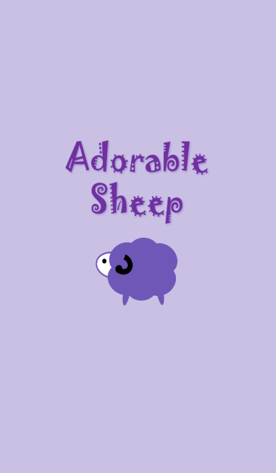 adorable sheep(purple)