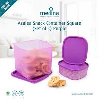 Dusdusan Azalea Snack Container Square (Set of 3) Purple ANDHIMIND