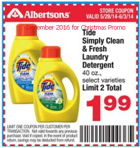 free Tide coupons for december 2016