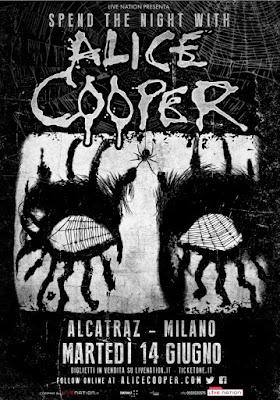 alice cooper - italia 2016 - alcatraz - milano