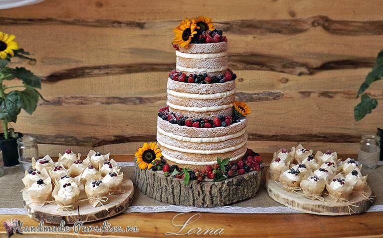 3D торт лесной тематики из сахарной мастики (8)